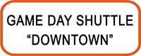 "Shuttle bus stop sign for ""Downtown Shuttle"""
